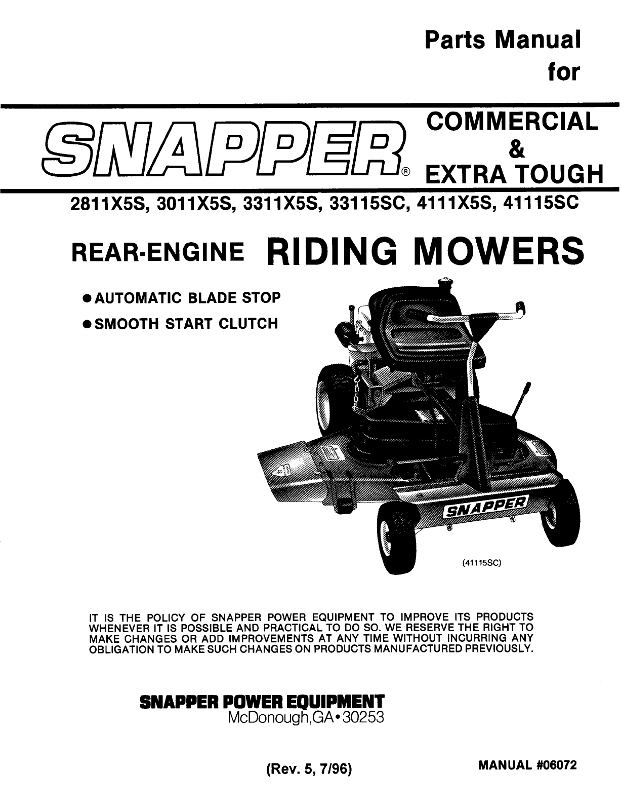 84e07184 30ec 4302 b856 842ecf9c9b3f bg1 snapper lawn mower 2811x5s user guide manualsonline com wiring diagram for rear engine snapper mower at crackthecode.co