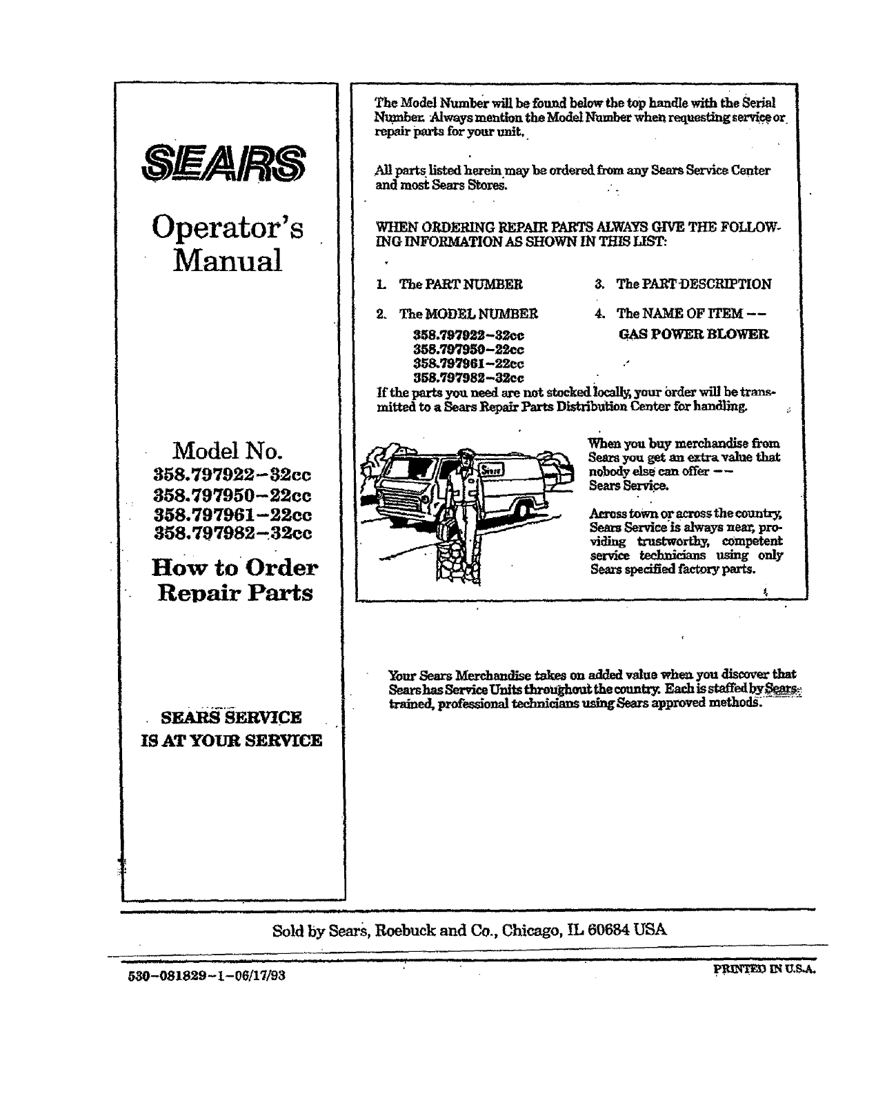 Page 17 Of Craftsman Blower 358 797950 User Guide