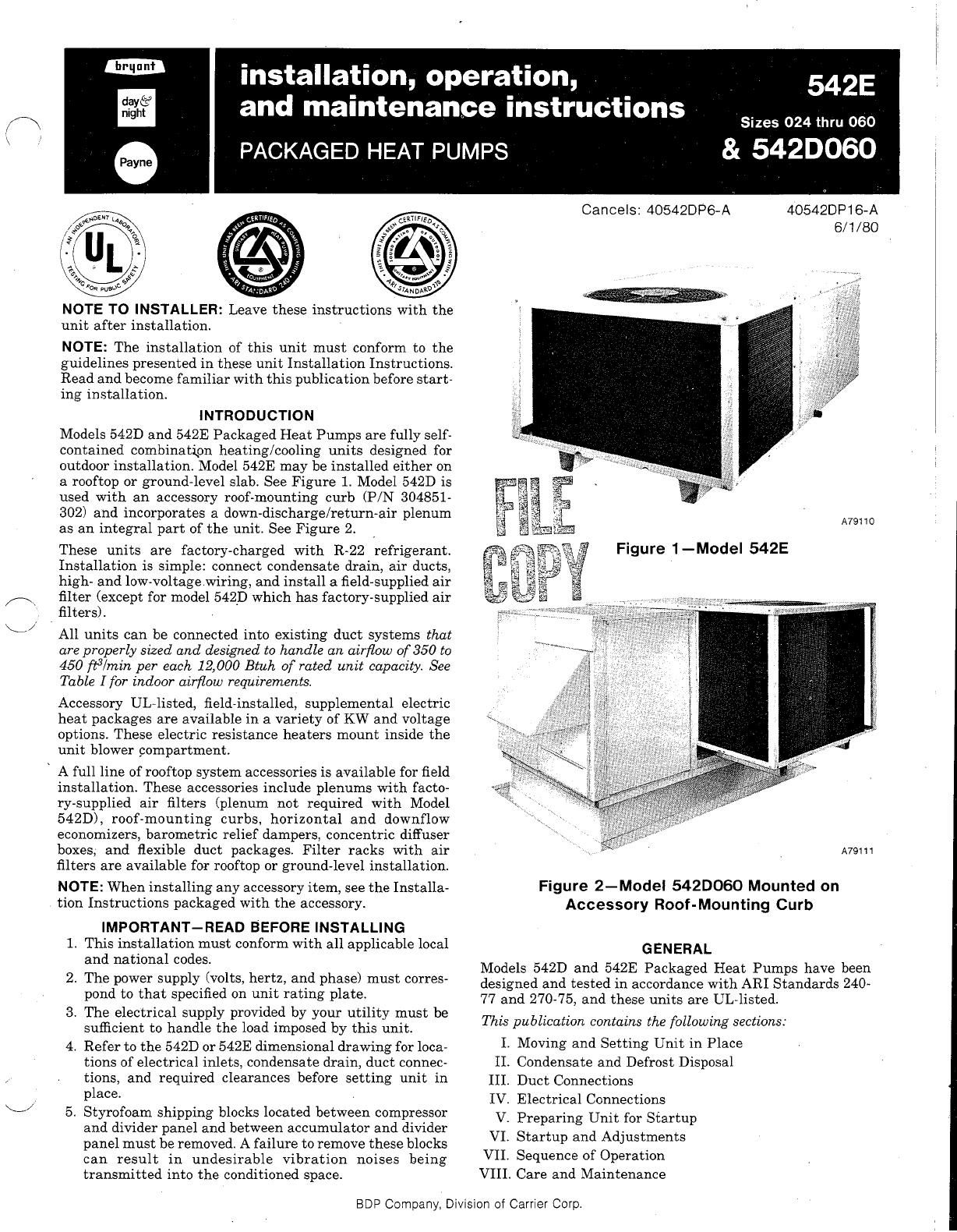 carrier heat pump 542e user guide manualsonline com Carrier Heat Pump Package carrier heat pump manual