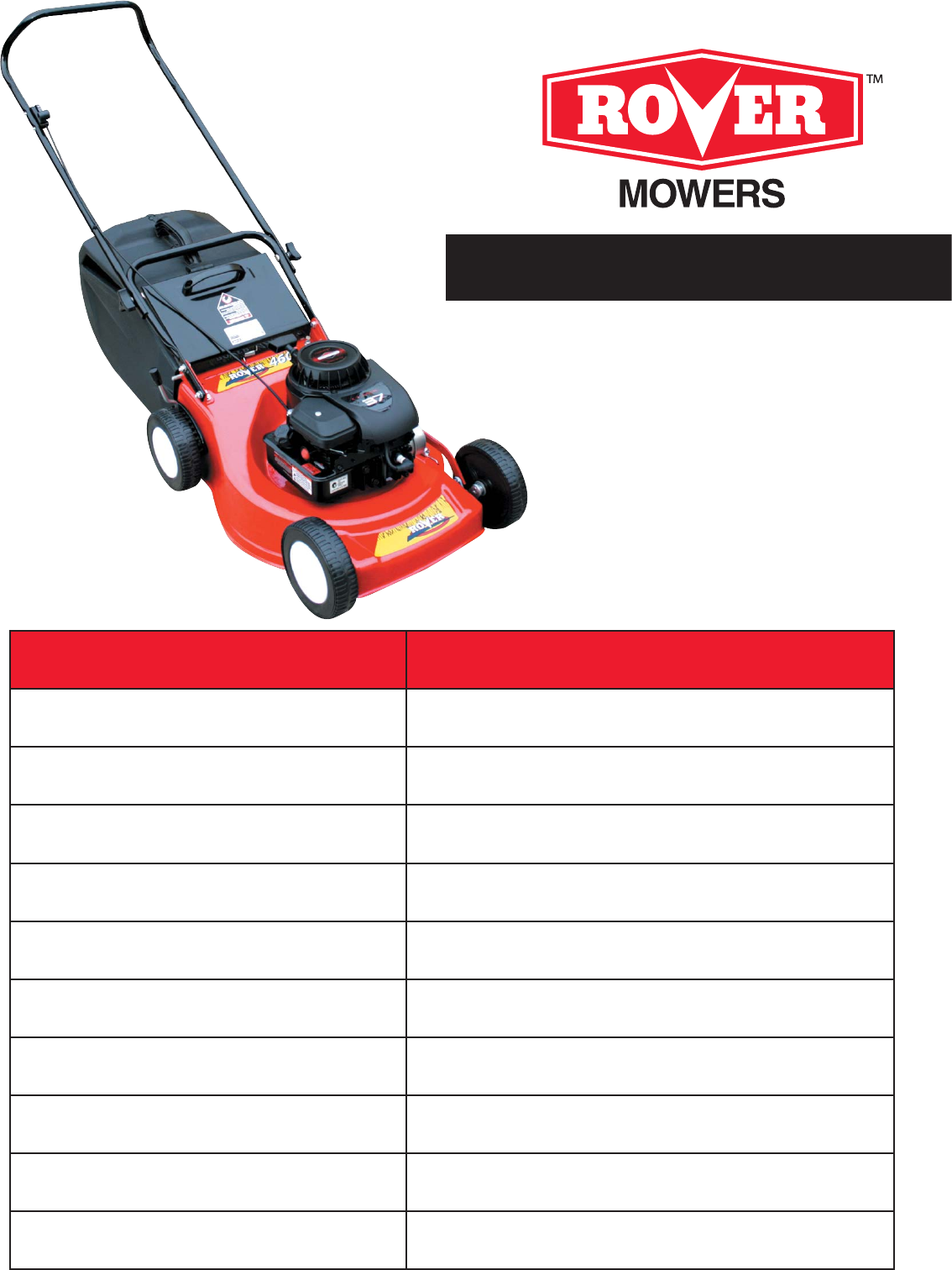 rover lawn mower 11024 user guide manualsonline com rh lawnandgarden manualsonline com rover lawn mower parts ebay rover lawn mower parts list