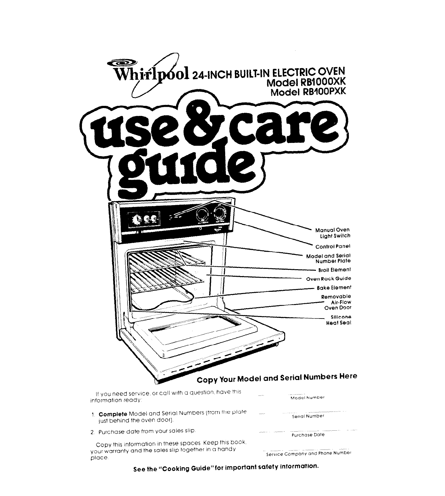 old whirlpool self cleaning oven instructions