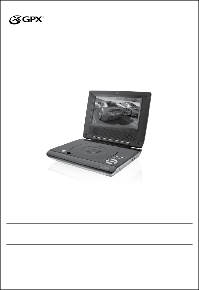 gpx portable dvd player pd730w user guide manualsonline com rh portablemedia manualsonline com GPX Portable DVD Player Battery GPX DVD Player Parts