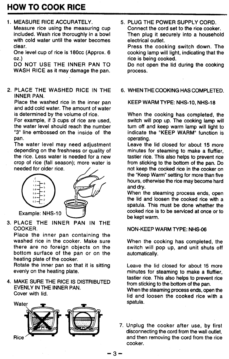 page 4 of zojirushi rice cooker nhs 06 user guide manualsonline com rh kitchen manualsonline com Zojirushi Water Boiler Zojirushi Coffee