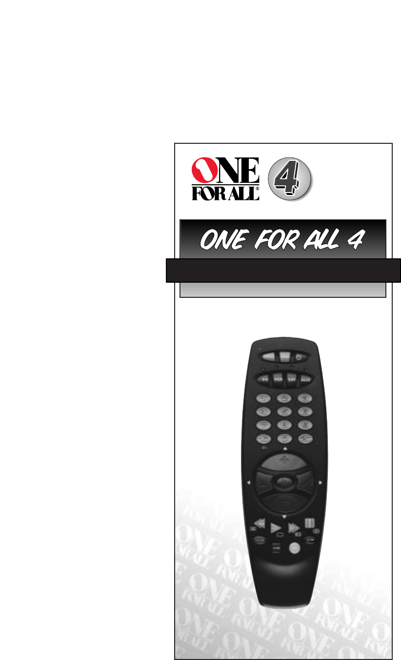 one for all foxtel remote manual