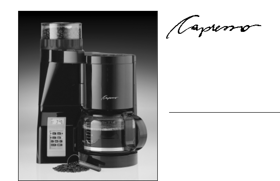 Capresso Coffee Maker Instructions : Capresso Coffeemaker 454 User Guide ManualsOnline.com