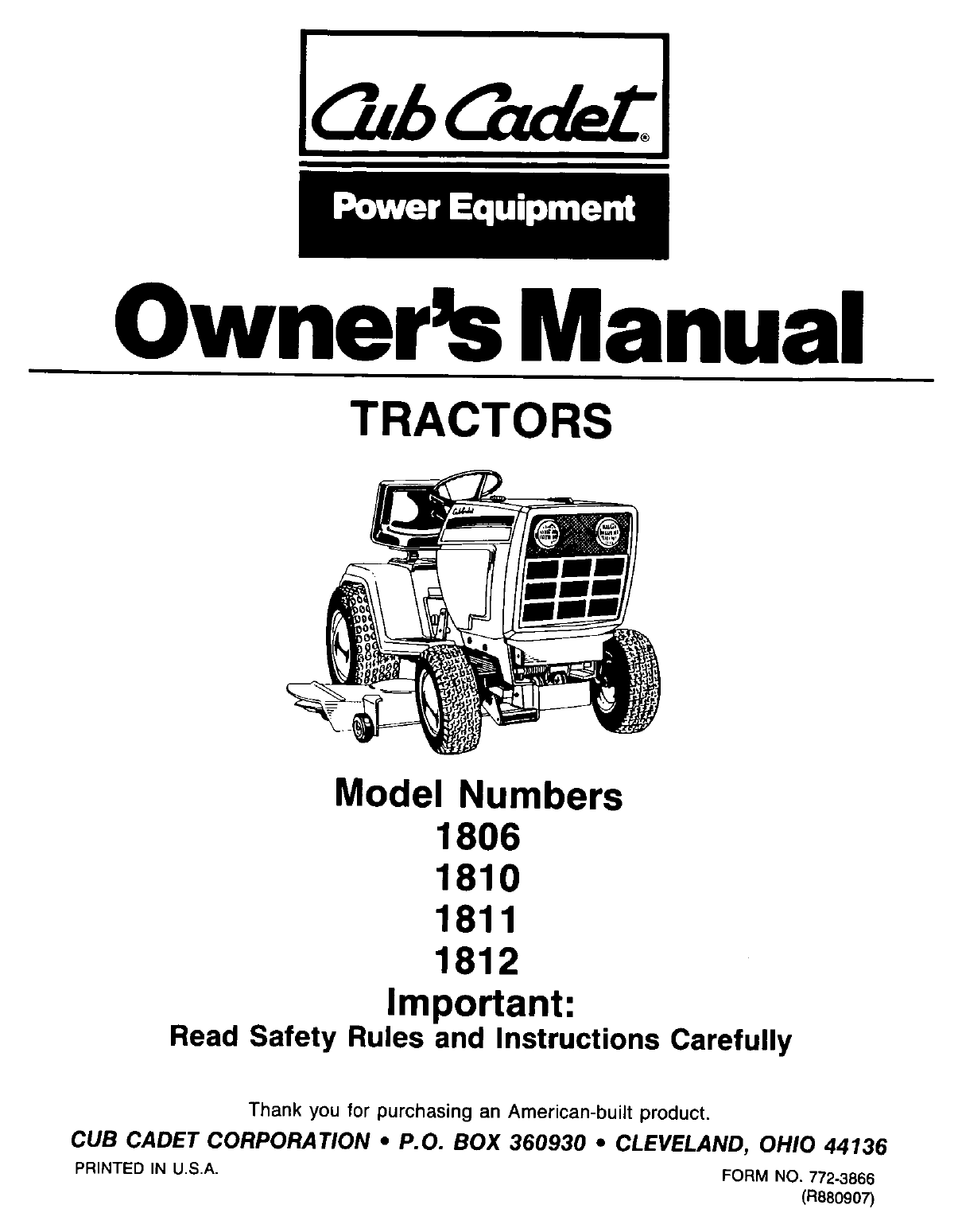cub cadet lawn mower 1811 user guide manualsonline com rh manualsonline com Cub Cadet Electric PTO Diagrams cub cadet 1811 owners manual