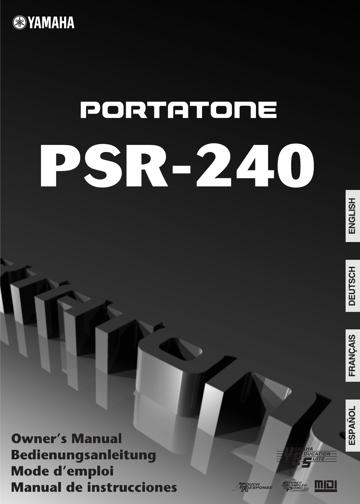 yamaha musical instrument psr 240 user guide manualsonline com rh manualsonline com manual teclado yamaha psr 240 em portugues manual do teclado yamaha psr 240 em portugues