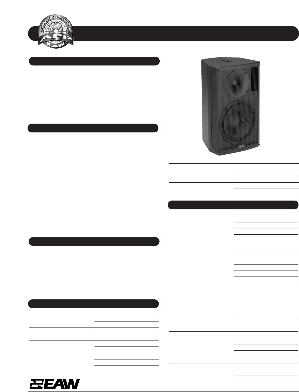 eaw portable speaker jfx100 user guide manualsonline com rh portablemedia manualsonline com