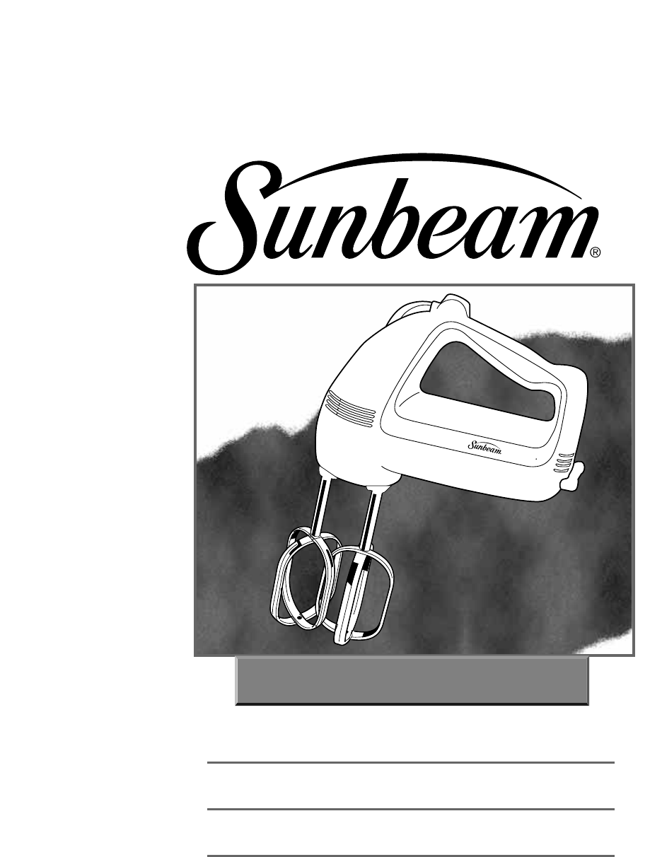 sunbeam bakehouse bm001 user manual