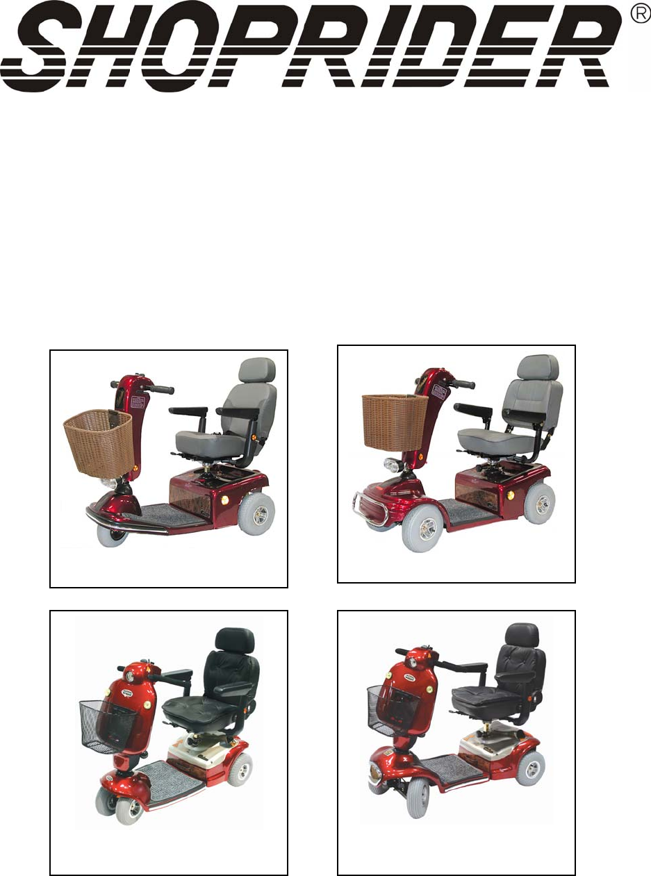 Shoprider Mobility Aid (888-4L) User Guide | ManualsOnline com