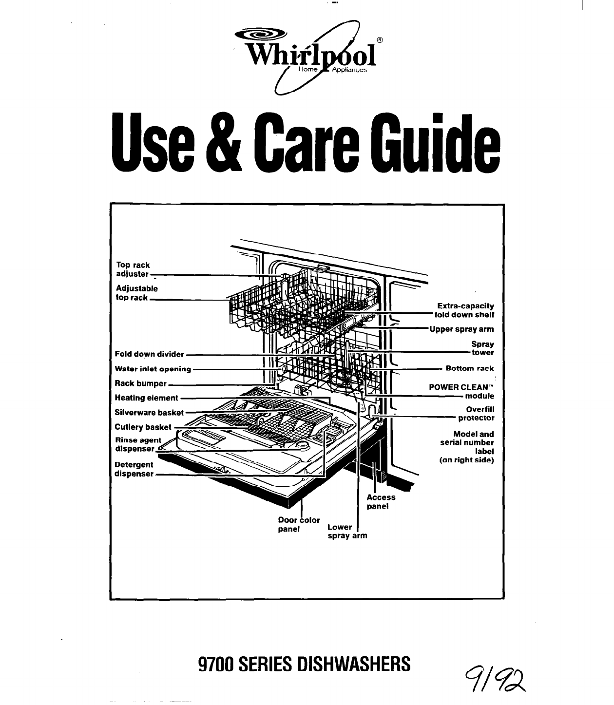 whirlpool dishwasher 9700 user guide manualsonline com rh kitchen manualsonline com Whirlpool Refrigerator Model Numbers whirlpool fridge freezer instruction manual