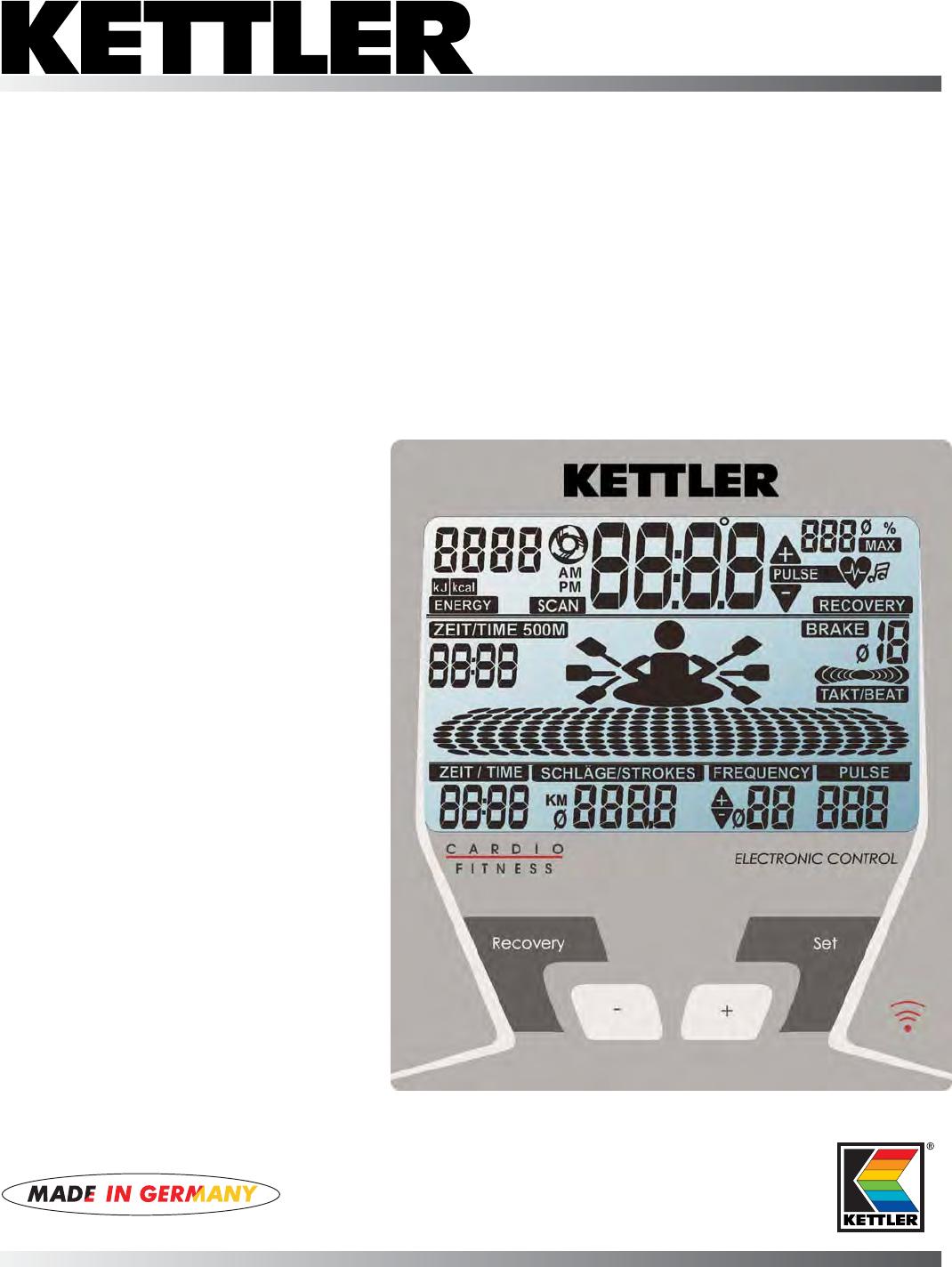 Kettler Rowing Machine St2520 64 User Guide