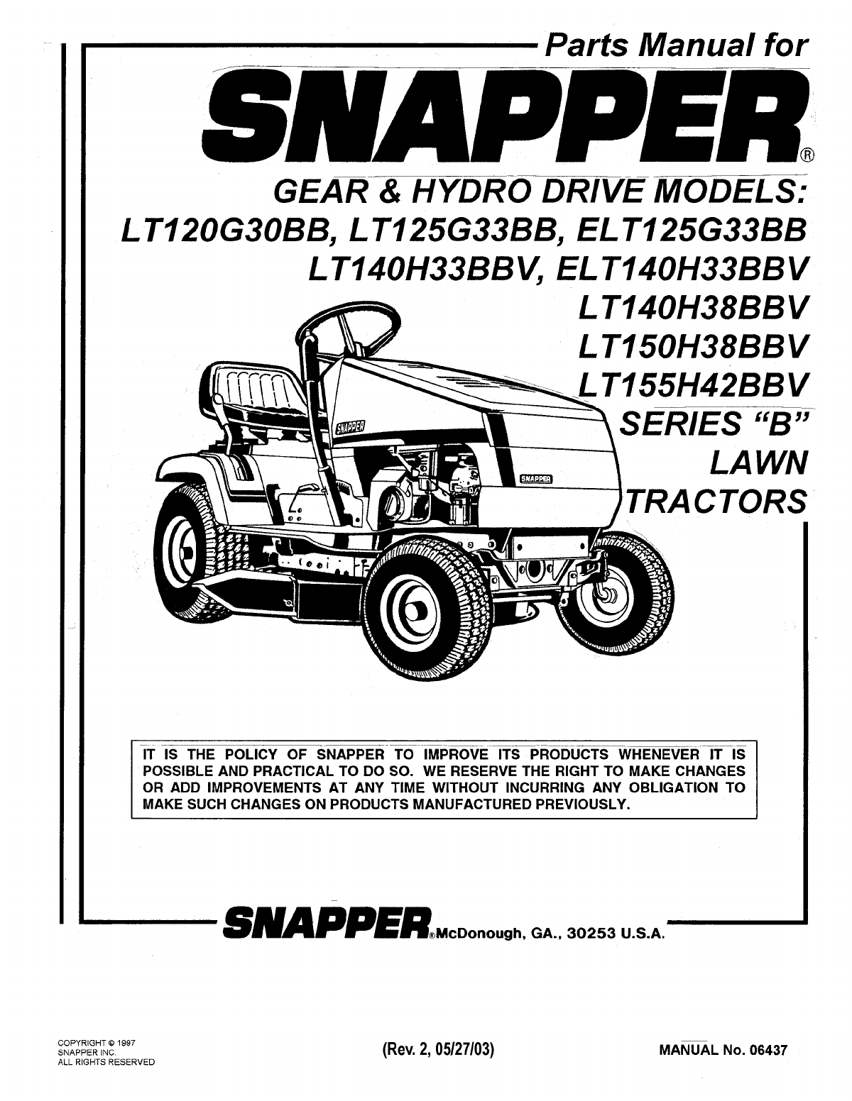 snapper lawn mower lt140h38bbv user guide manualsonline com rh kitchen manualsonline com snapper parts manuals 06064 snapper parts manual 7006128