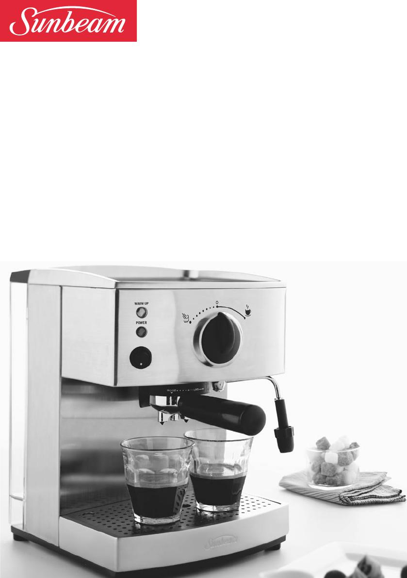 Sunbeam Coffee Maker Instructions : Sunbeam Espresso Maker EM4800C User Guide ManualsOnline.com
