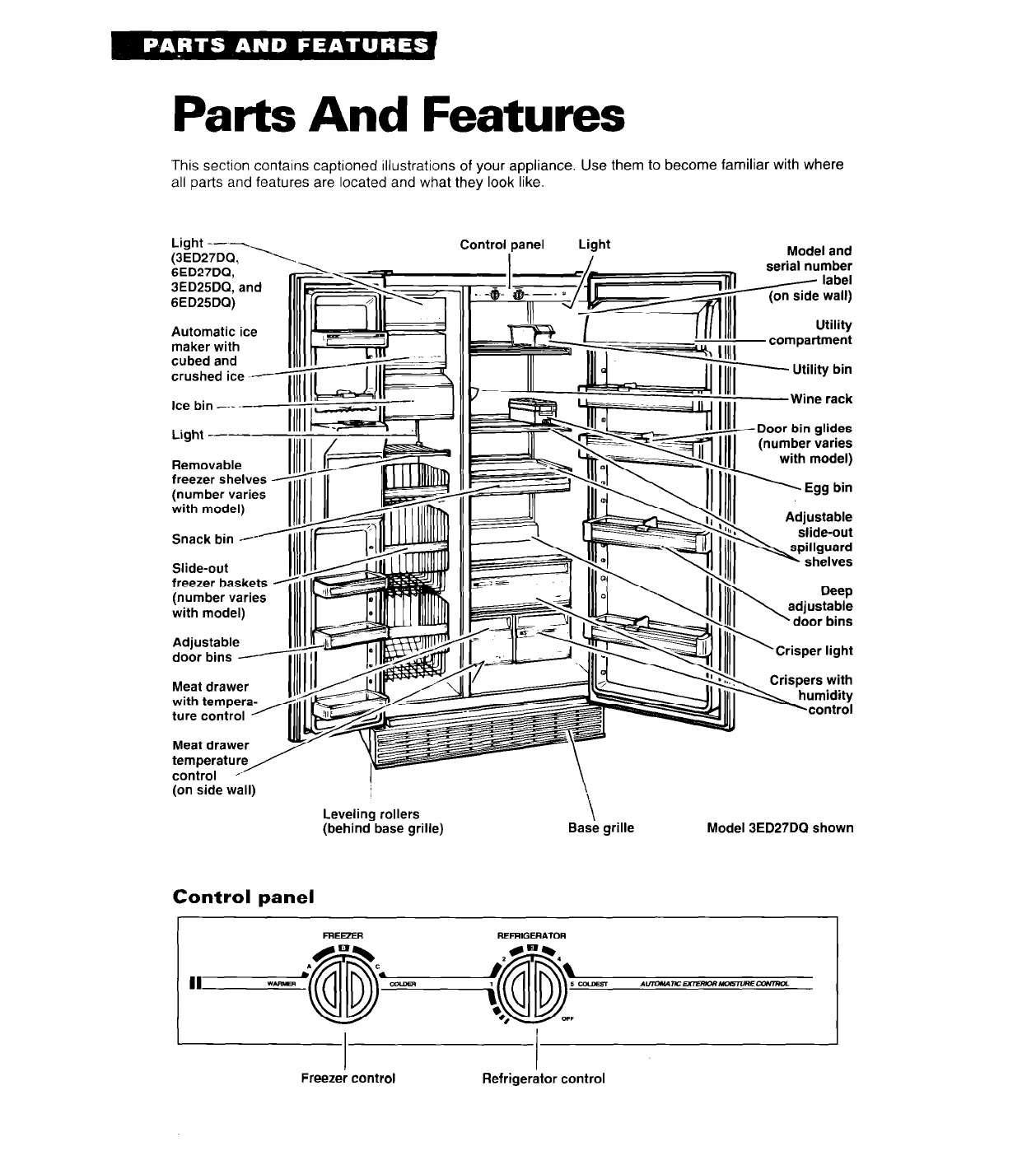 page 4 of whirlpool refrigerator 3ed27dq user guide Illustration for Whirlpool Refrigerator Parts whirlpool refrigerator parts list manual