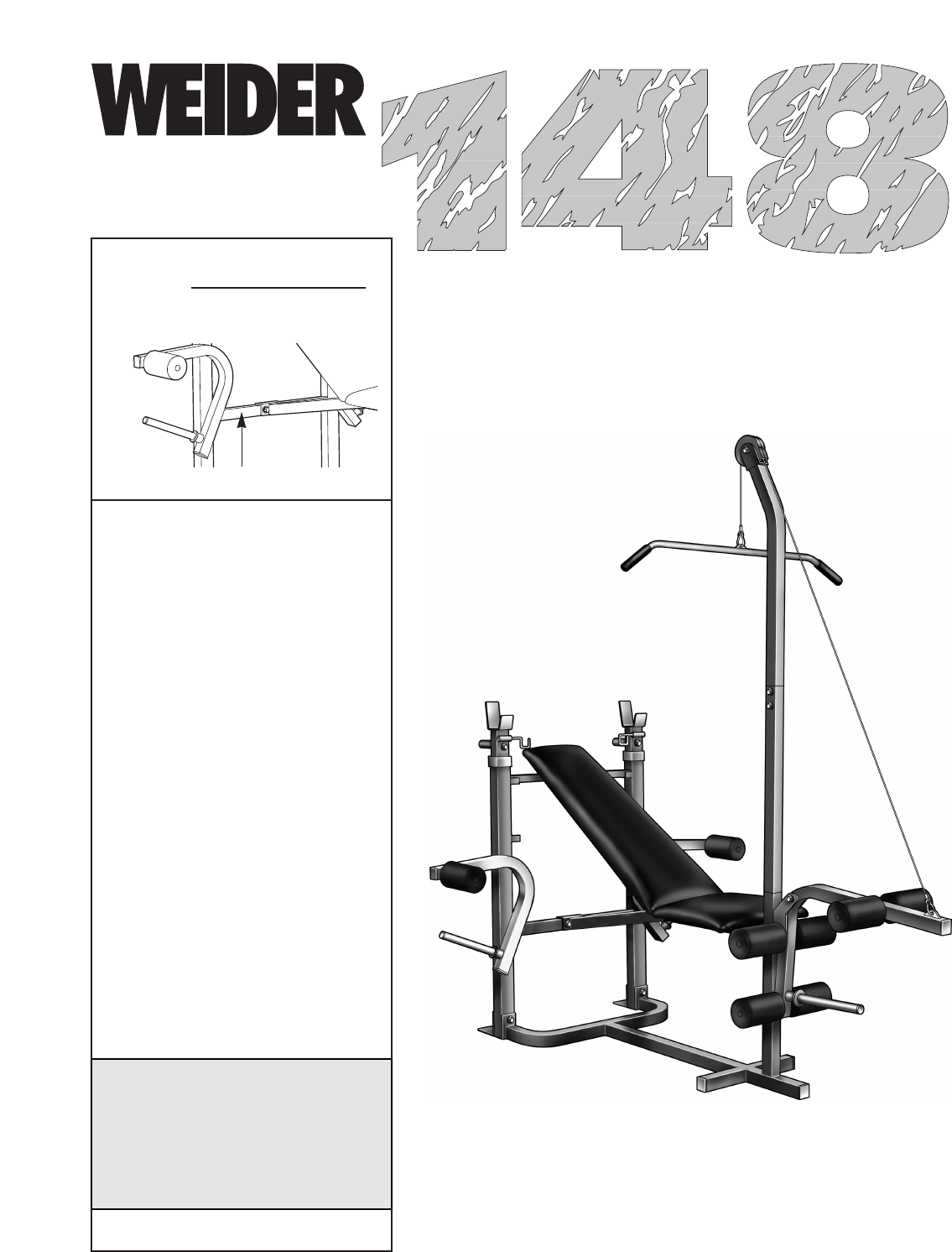 Weider home gym 148 user guide manualsonline nvjuhfo Image collections