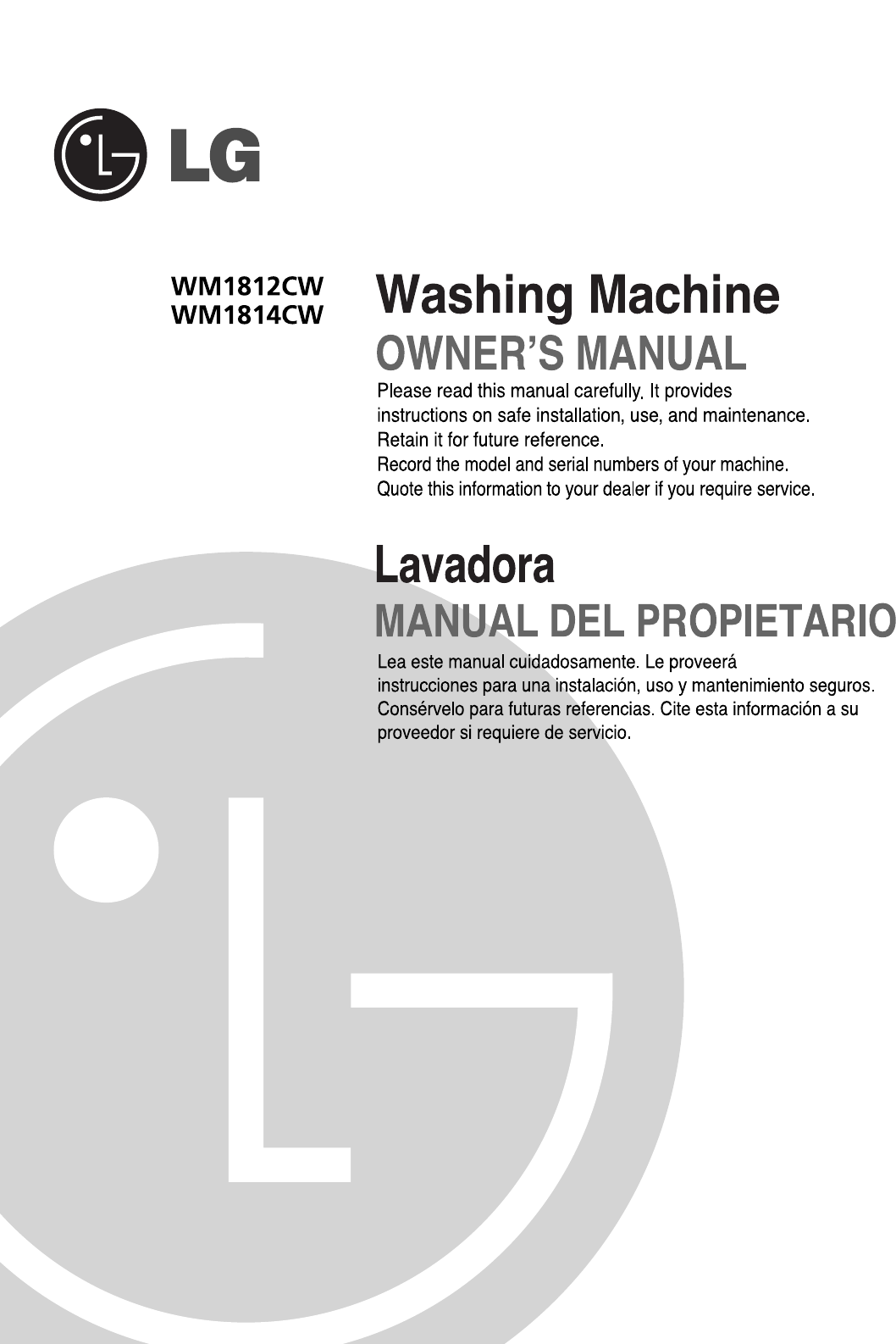 lg electronics washer wm1814cw user guide manualsonline com rh phone manualsonline com lg washer owners manual lg washer owners manual wm2016cw