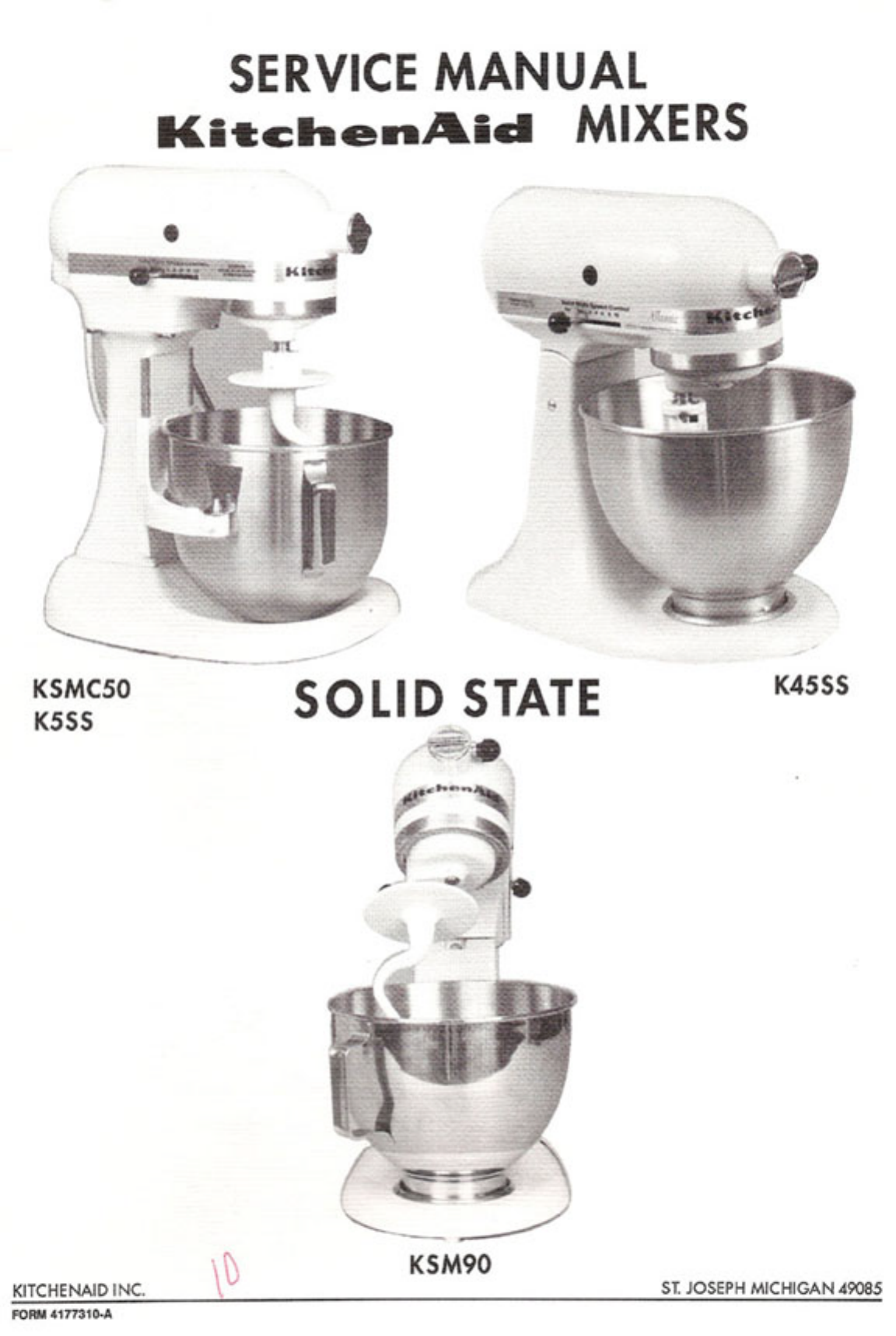 KitchenAid Mixer K45SS User Guide | ManualsOnline.com