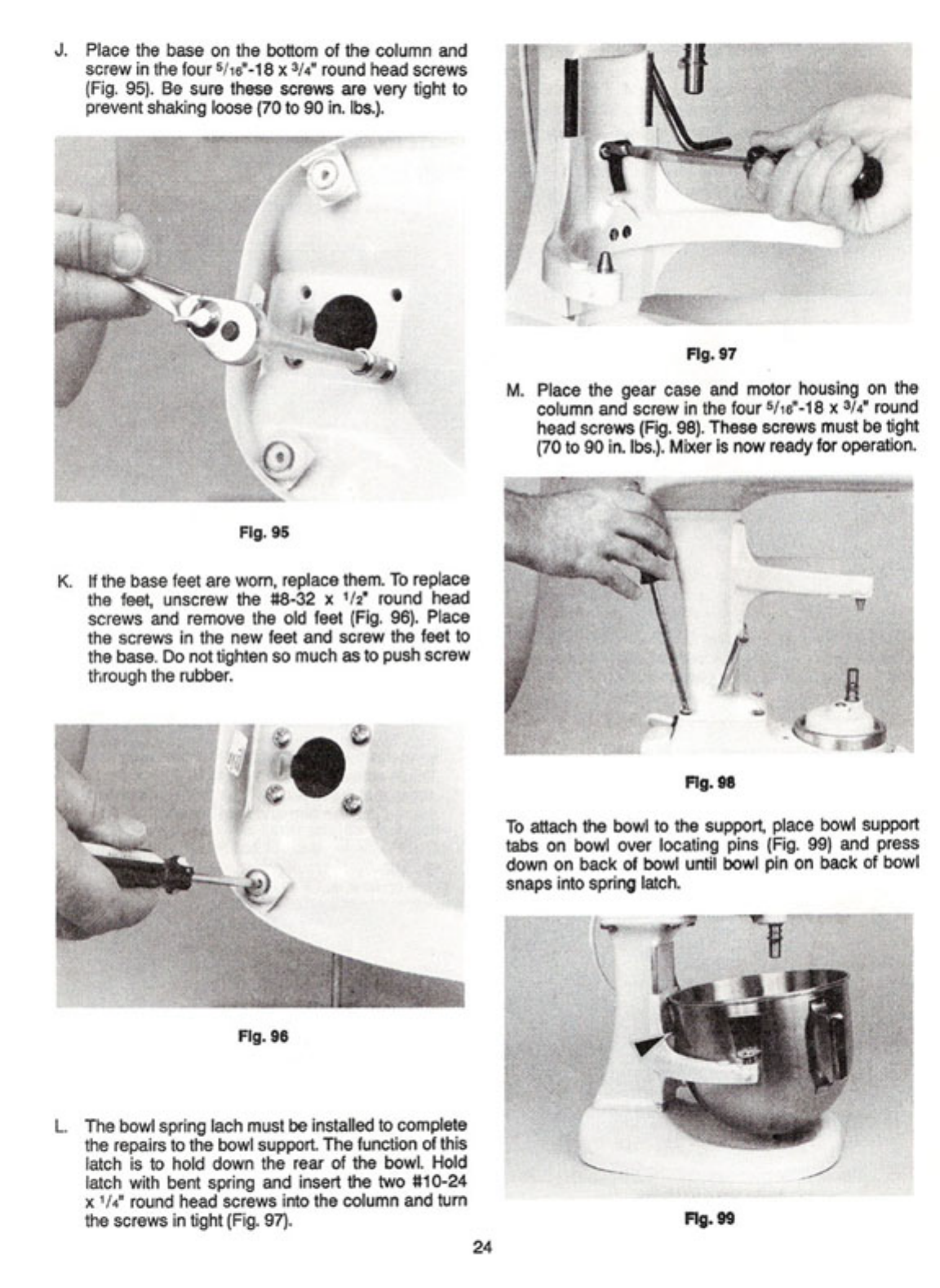 page 28 of kitchenaid mixer k5ss user guide