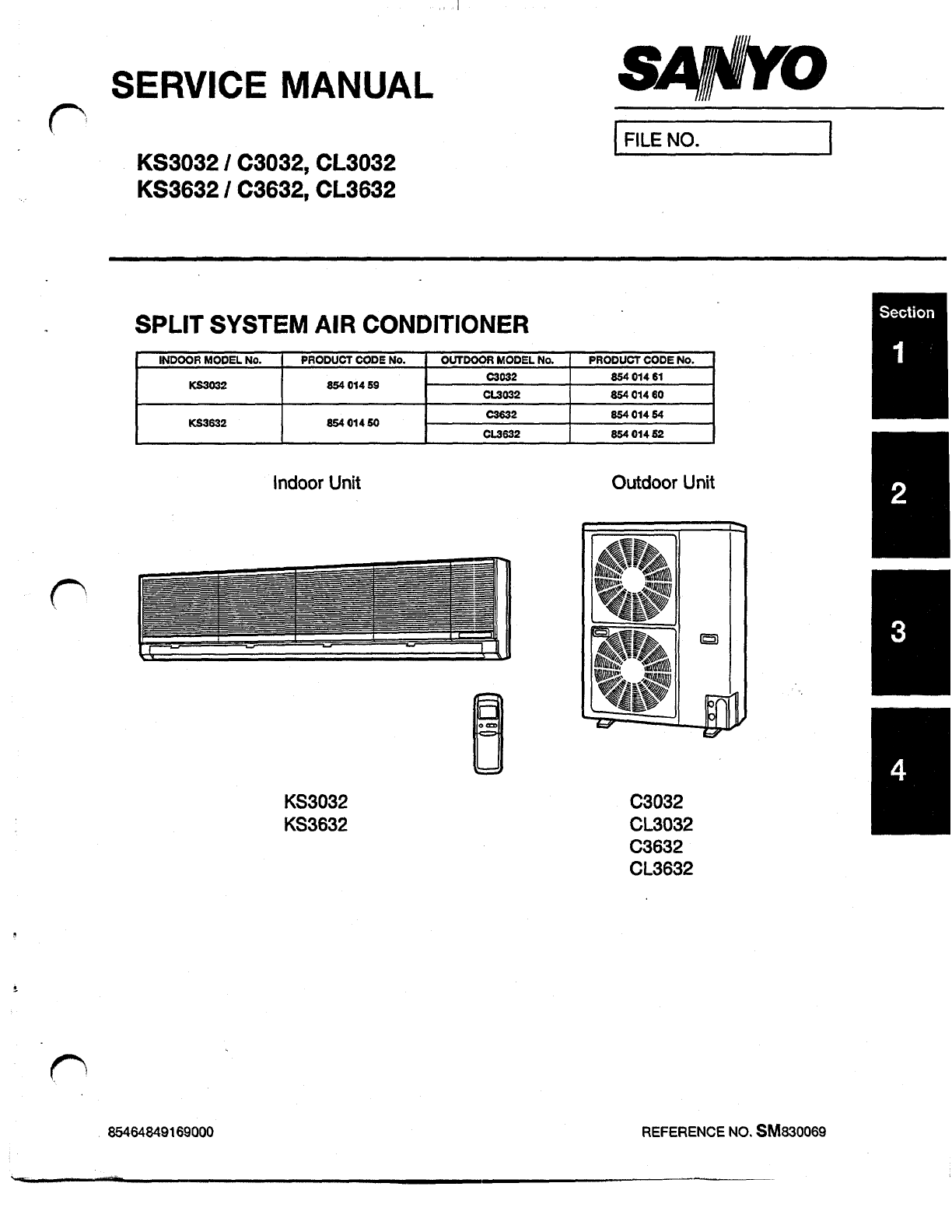 Sanyo Air Conditioner CL3632 User Guide ManualsOnline.com #131313