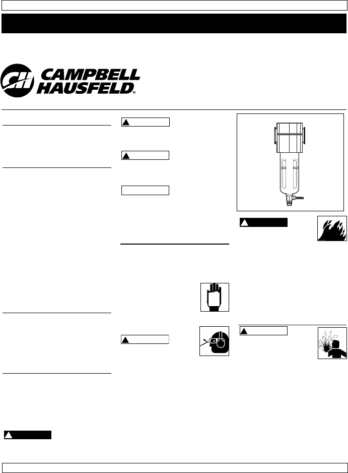 campbell hausfeld air cleaner pa212102 user guide manualsonline com rh homeappliance manualsonline com For Campbell Hausfeld Air Compressor Model Mt500101 Manual Campbell Hausfeld Air Compressor Manual