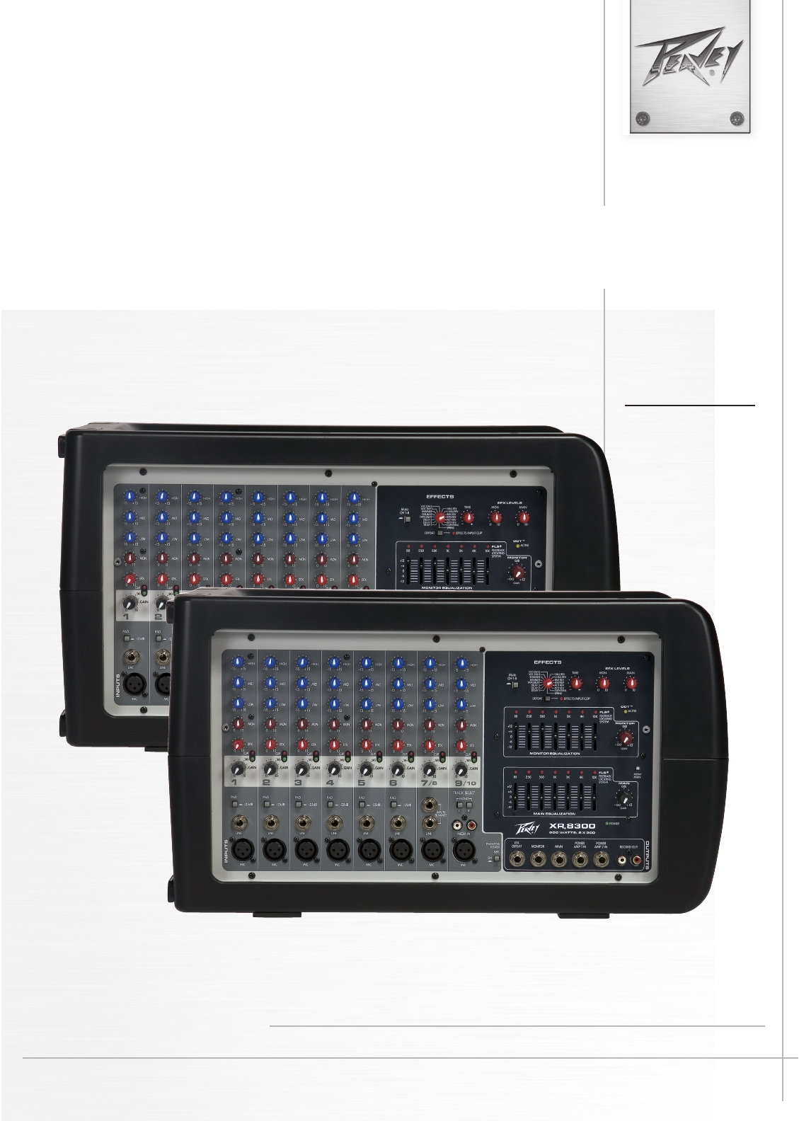 peavey music mixer xr 8300 user guide manualsonline com rh music manualsonline com peavey xr8300 powered mixer review Peavey XR8300 Powered Mixer