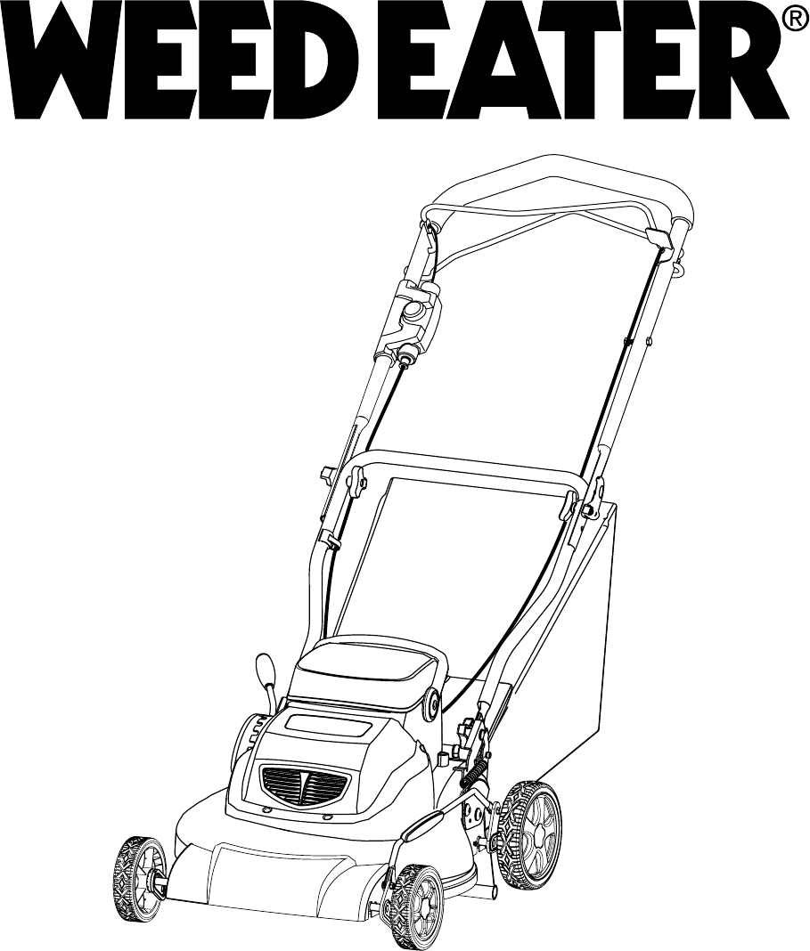 Weed Eater Lawn Mower 96142008800 User Guide