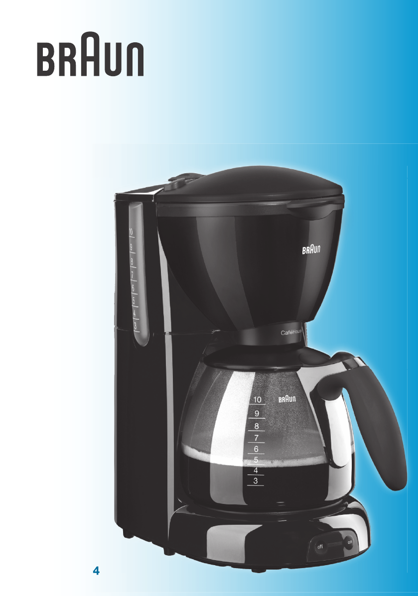Braun Coffee Maker Repair Guide : Braun Coffeemaker KF 560 User Guide ManualsOnline.com