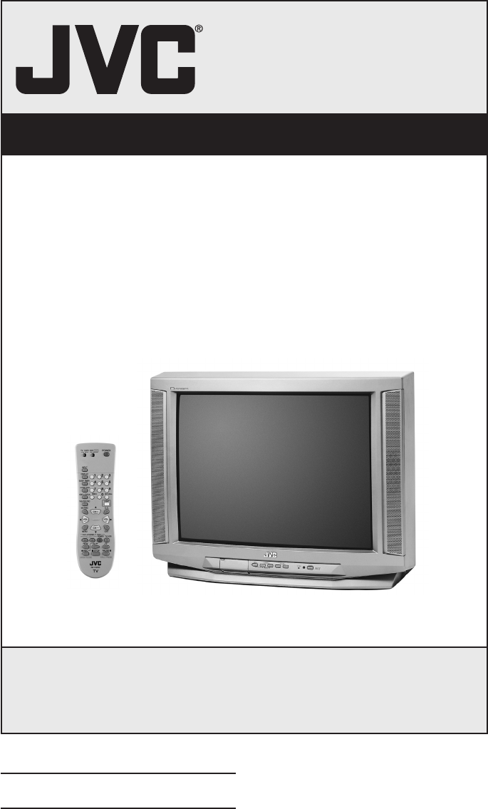 Jvc Crt Television Av 32430 User Guide