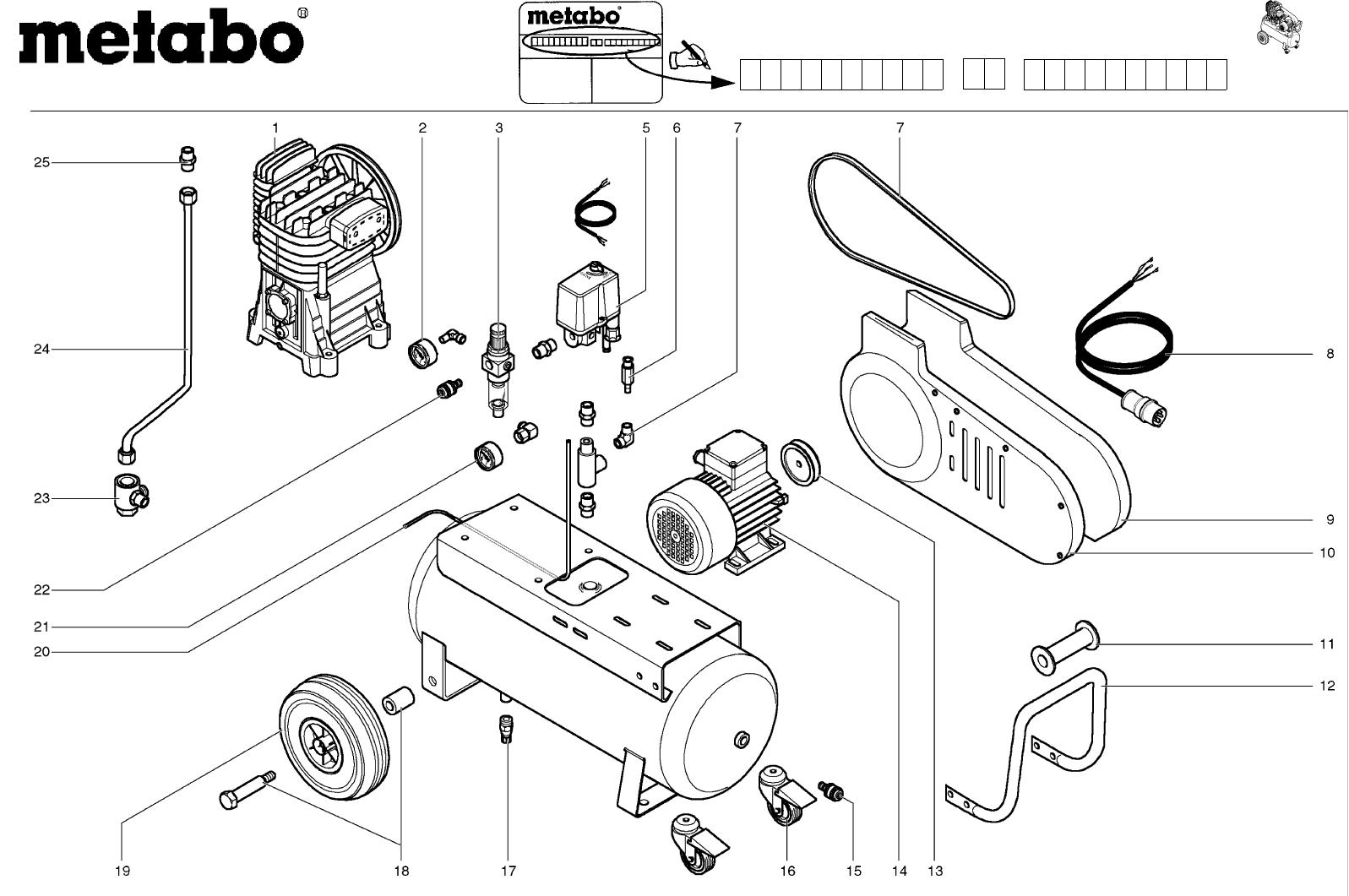 metabo air compressor mega 450d user guide manualsonline com rh powertool manualsonline com Metabo Power Tools Metabo Power Tools