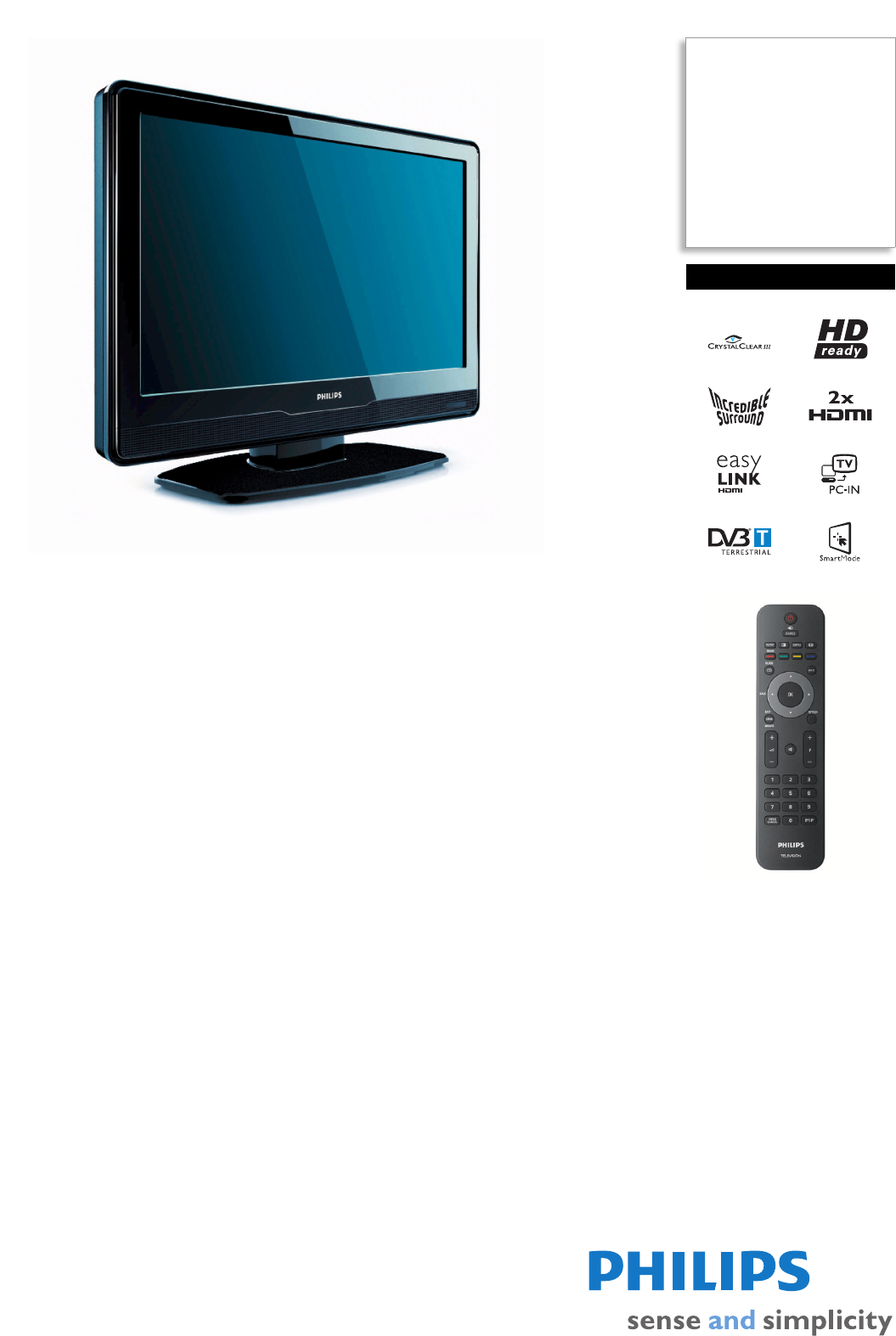 philips flat panel television 26pfl3403d user guide manualsonline com rh tv manualsonline com philips tv user manual model 60pl9200d/37 philips smart tv user manual