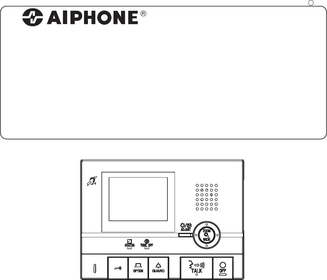 aiphone intercom system gt 1c user guide manualsonline com