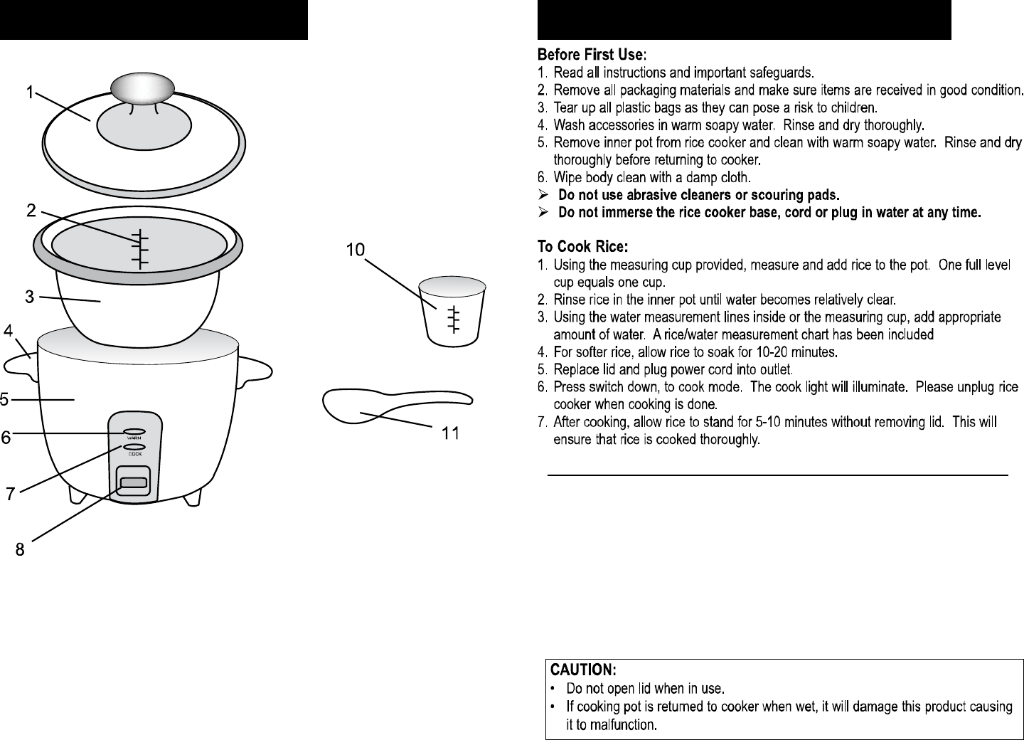 Page 3 Of Elite Products Rice Cooker Erc 003st User Guide
