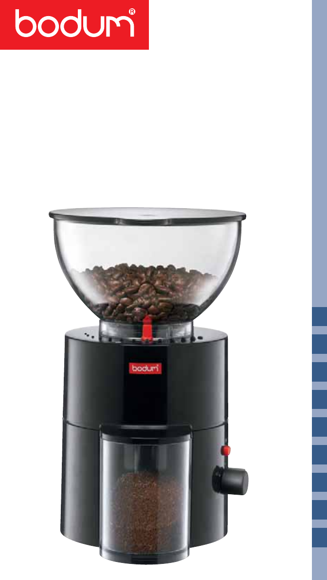 Bodum Coffee Grinder 10462 User Guide Manualsonline