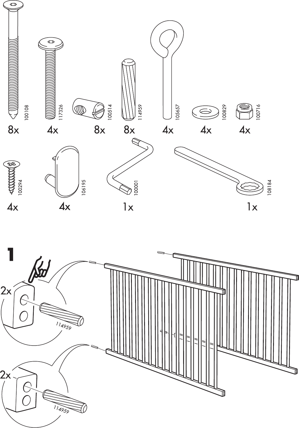 Jenny crib instructions creative ideas of baby cribs - Jenny lind replacement parts ...