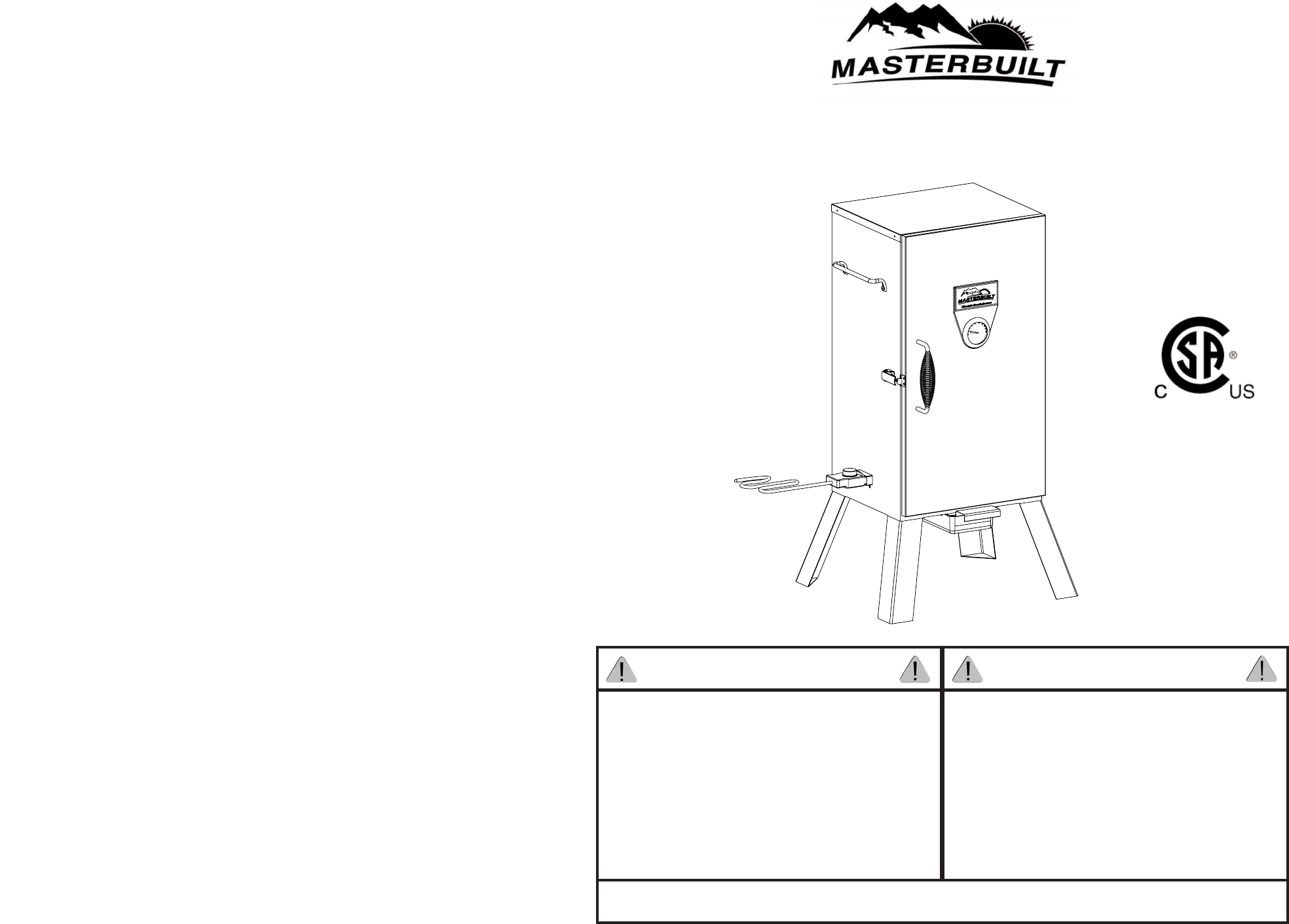 Masterbuilt Electric Smoker Parts 20070410 Manual Guide
