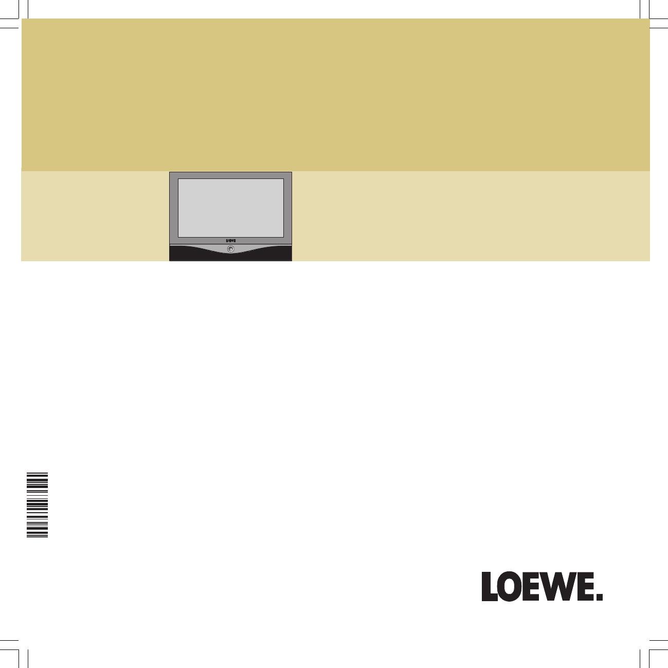 loewe flat panel television sl 32 hd user guide manualsonline com rh tv manualsonline com Loewe TV US Loewe TV US