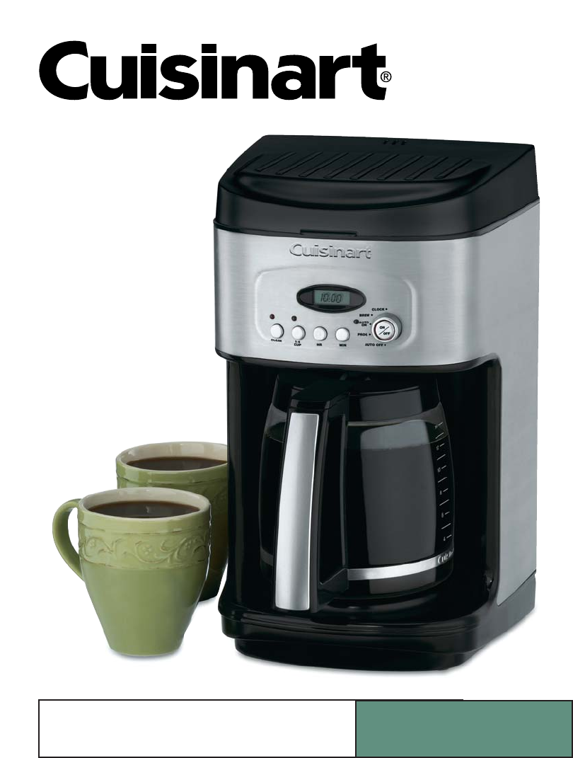 Coffee Maker Instructions : Cuisinart Coffeemaker DCC-2200 User Guide ManualsOnline.com