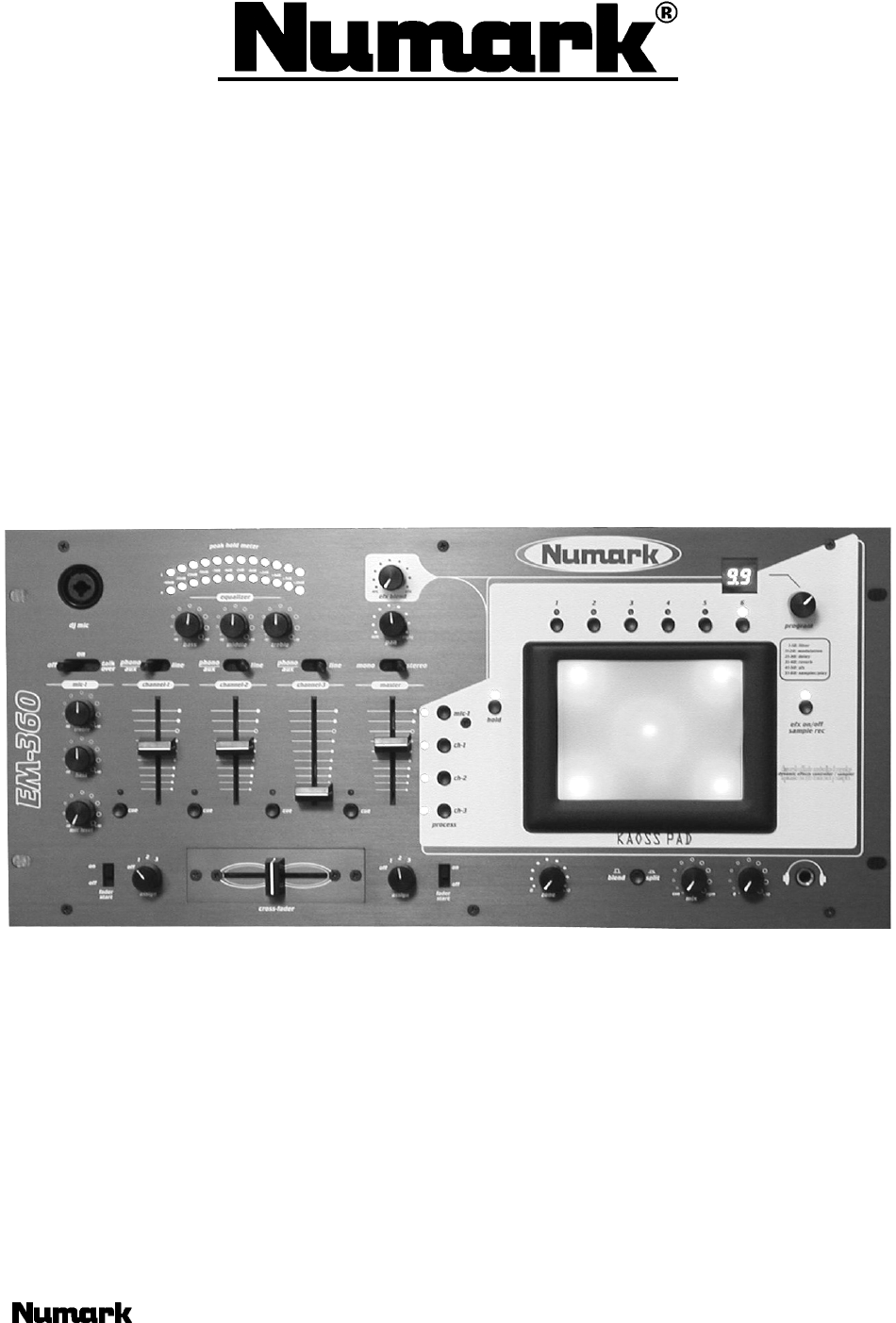 numark industries dj equipment em360 user guide manualsonline com rh music manualsonline com