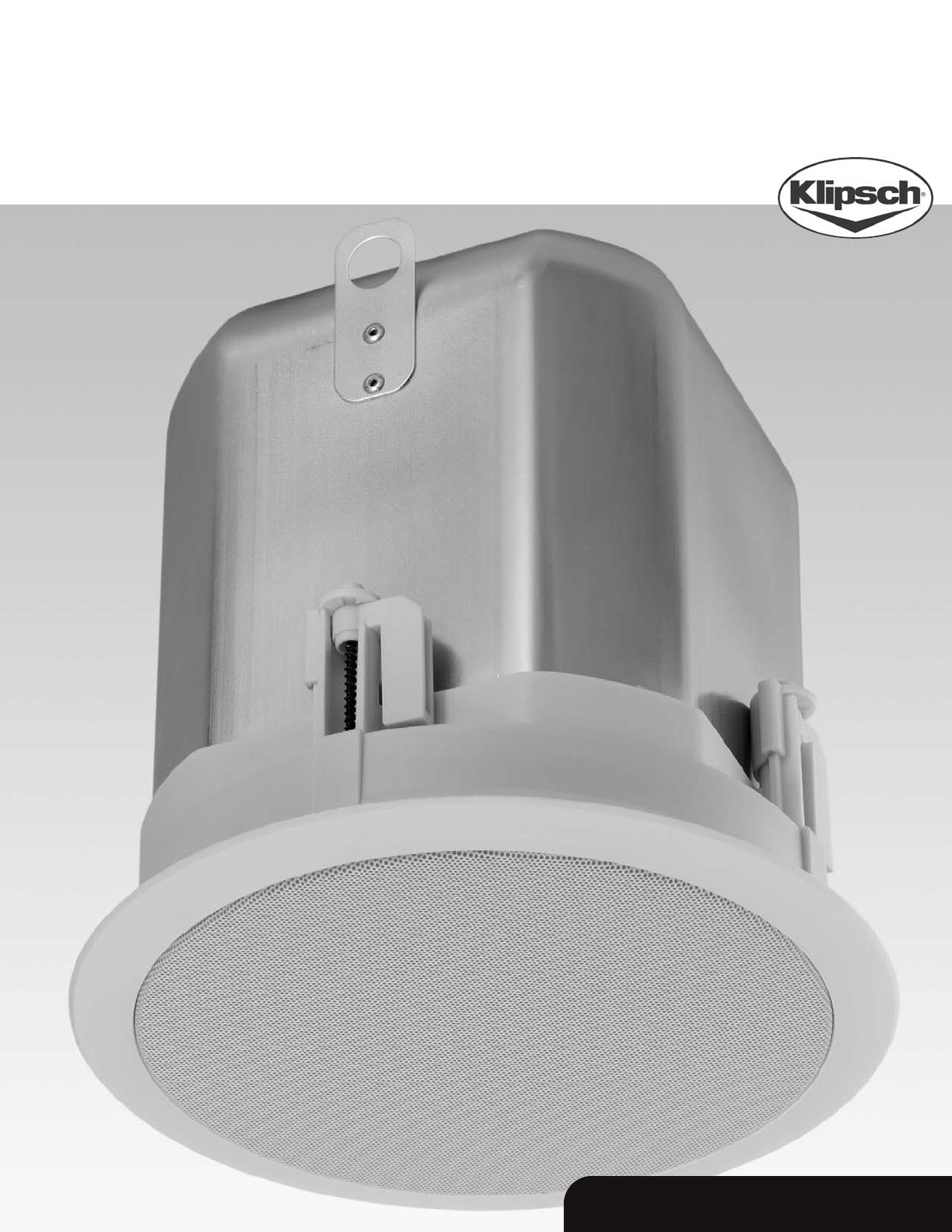 klipsch speaker ic sw 8 t 2 user guide. Black Bedroom Furniture Sets. Home Design Ideas