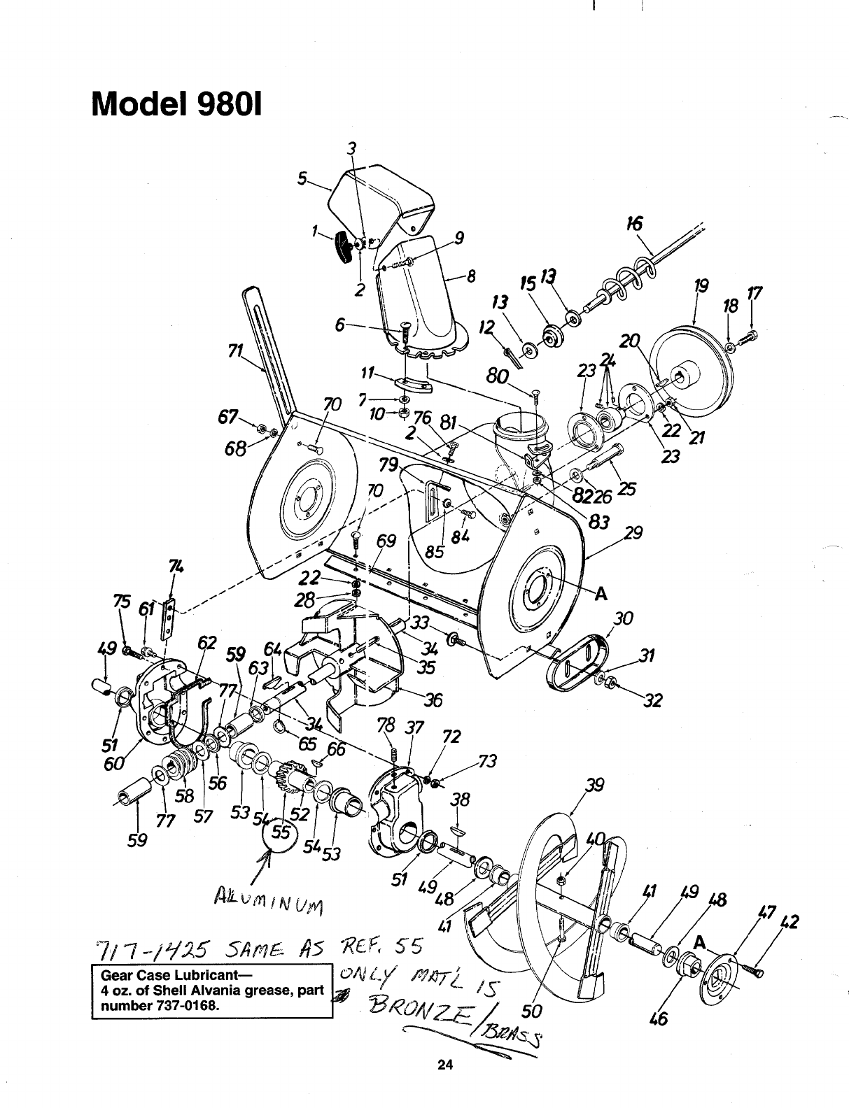 Page 24 Of Mtd Snow Blower 312