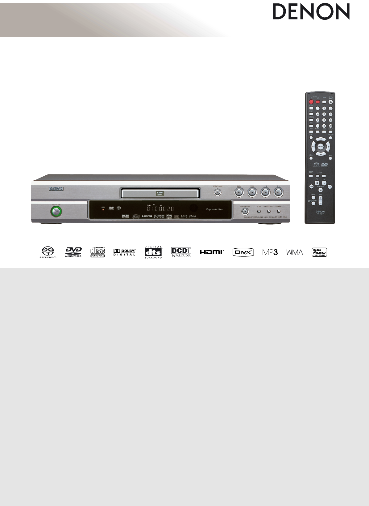 Denon DVD-1930 DVD Player User Manual