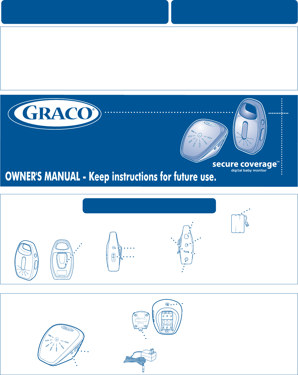 graco baby monitor 2m19 user guide manualsonline com rh babycare manualsonline com graco ultra clear baby monitor manual graco baby monitor manual with vibe