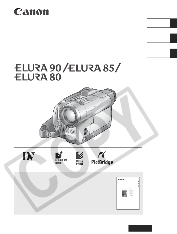 canon camcorder elura 90 user guide manualsonline com rh camera manualsonline com canon elura 80 manual Canon Elura 100 Manual