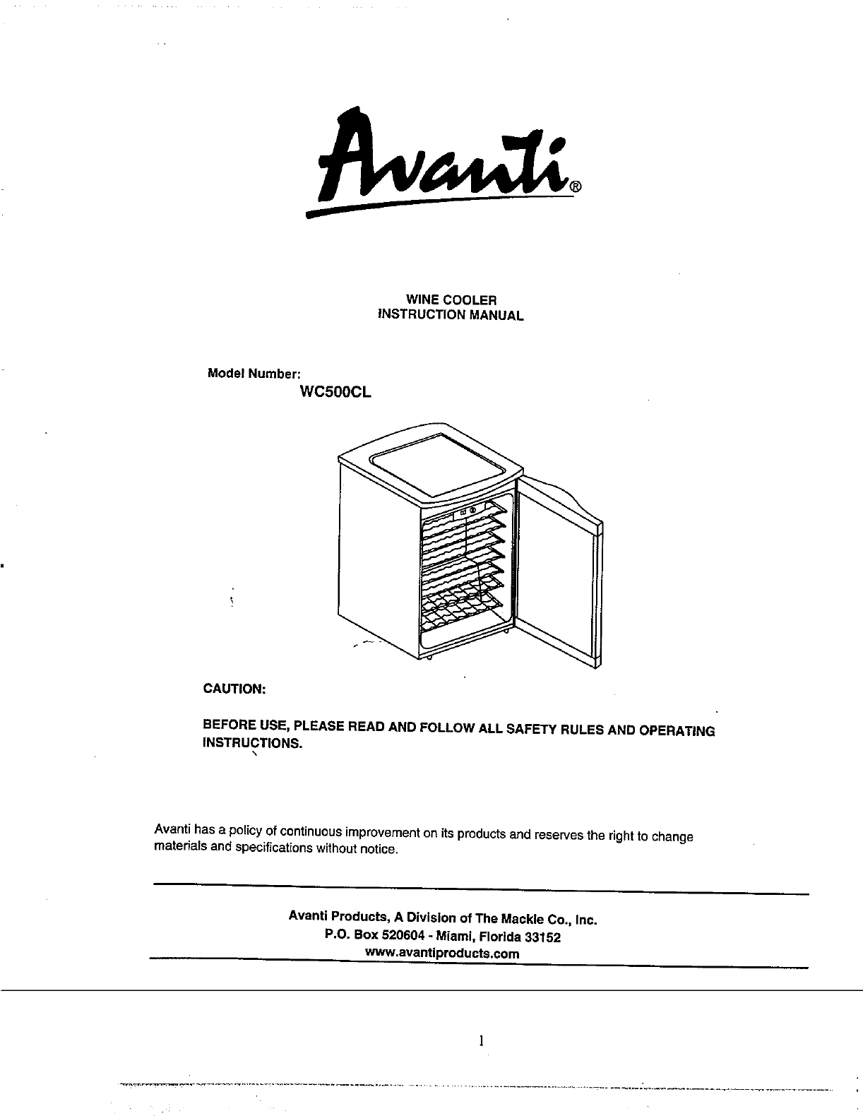 avanti refrigerator wc500cl user guide manualsonline com rh kitchen manualsonline com avanti compact refrigerator manual avanti refrigerator instruction manual
