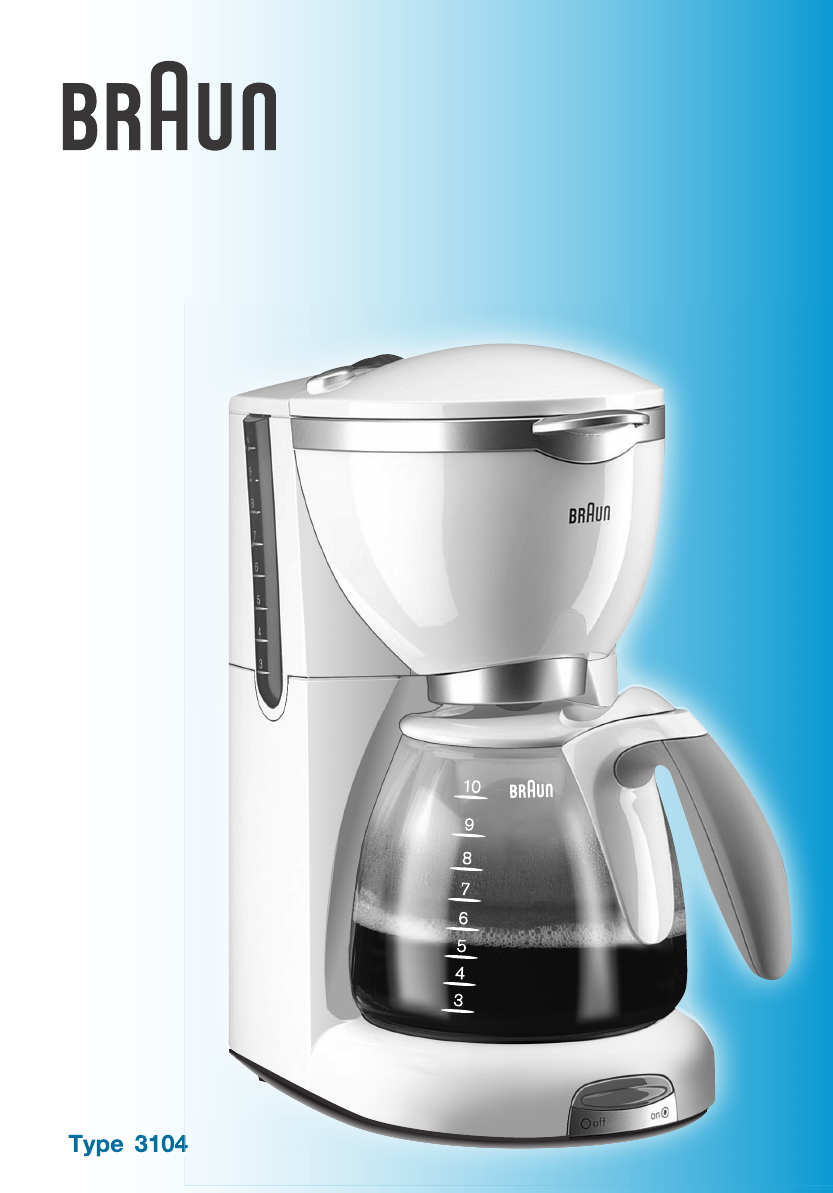 Braun Flavorselect Coffee Maker Manual : Braun Coffeemaker CafHouse KF 500 User Guide ManualsOnline.com
