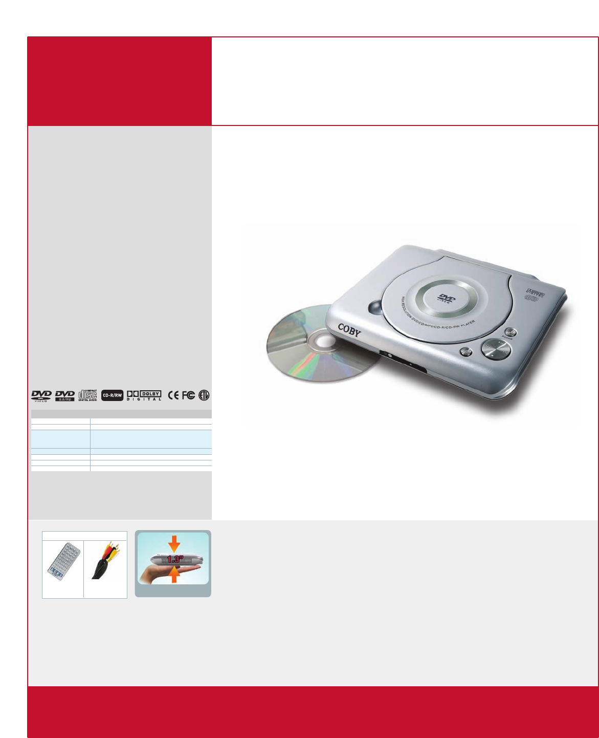 ... DVD Player User Manual. Page 1. Page 1. Open as PDF. of 1. COBY®