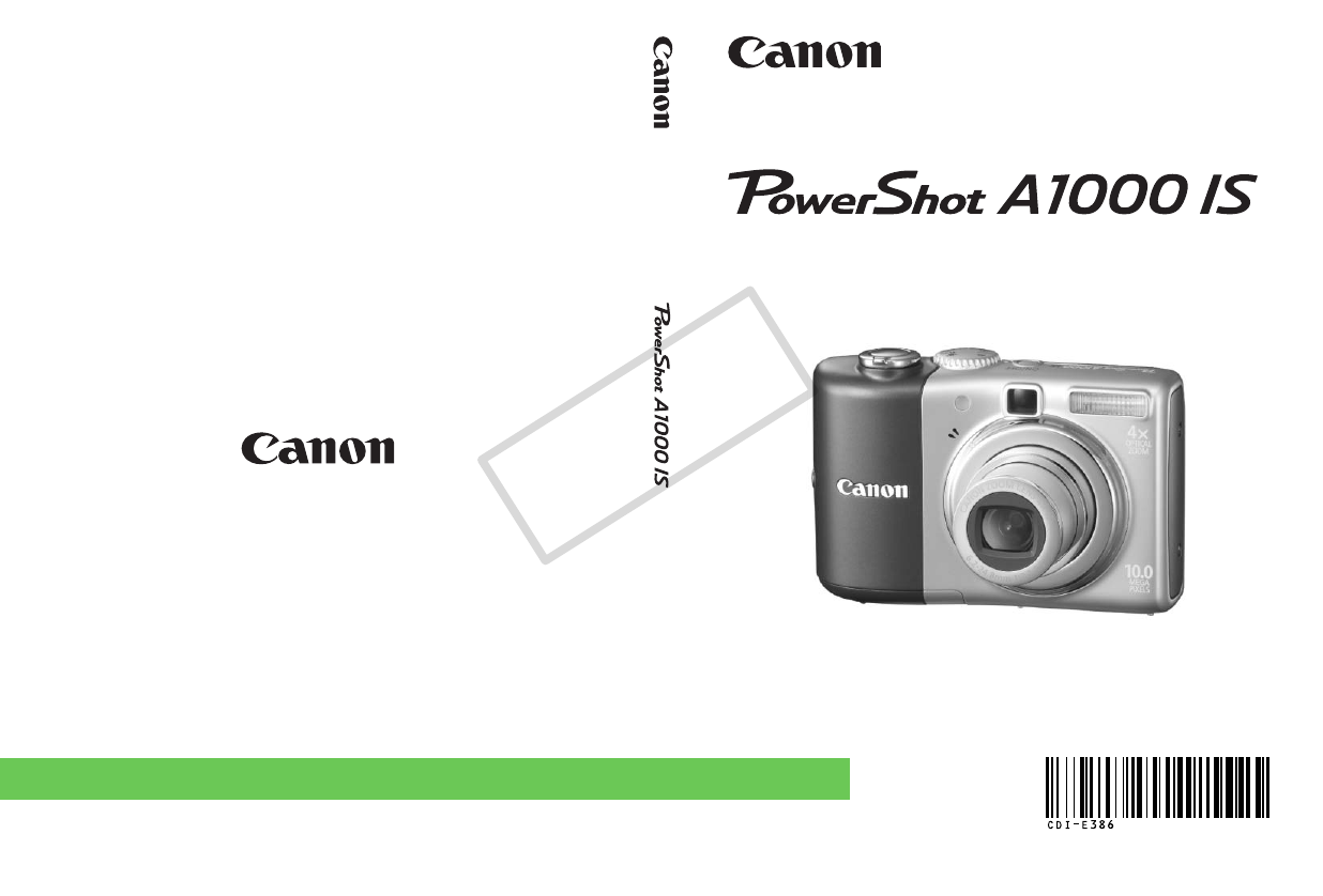 canon digital camera a1000is user guide manualsonline com rh camera manualsonline com Manuals in PDF Instruction Manual Book