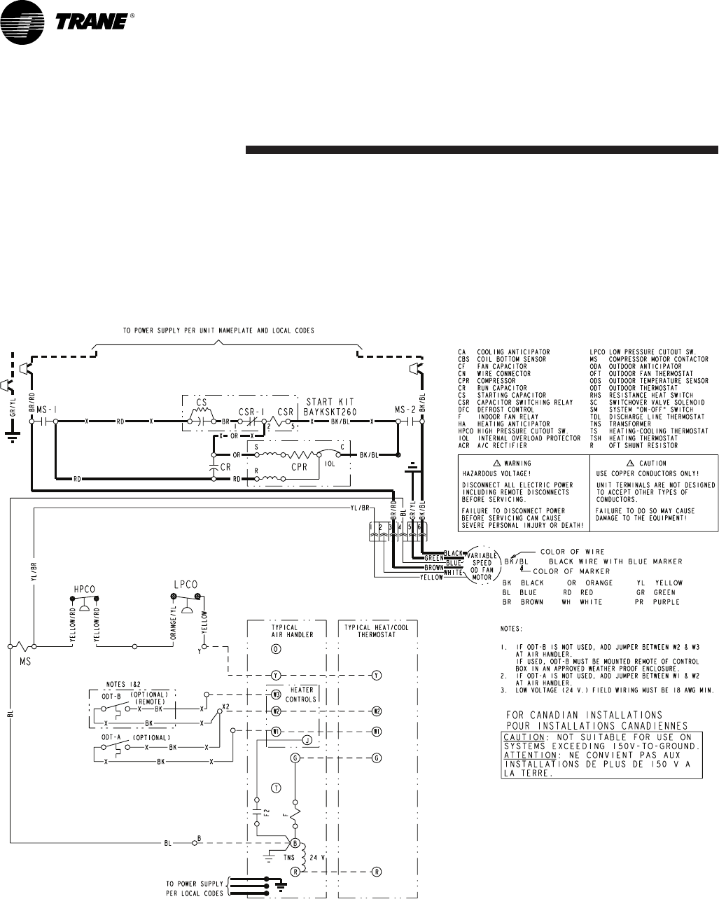 Trane Xr15 Wiring Diagram Xr13 Xv95 Xl80 Xr On