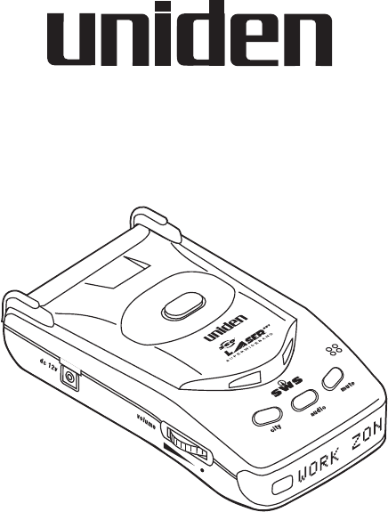 Uniden Radar Detector LRD 6699SWS User Guide